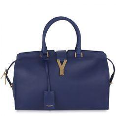 Saint Laurent - Cabas Medium Bag (Blue) - Hirshleifers #ILOVEHIRSHLEIFERS