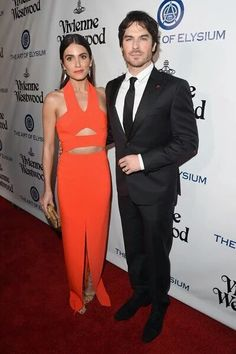Ian Somerhalder & Nikki Reed Double Date in 'Heaven' with Paul Wesley & Phoebe Tonkin!: Photo Nikki Reed, Ian Somerhalder, Phoebe Tonkin, and Paul Wesley get together for a photo inside of the 2016 Art of Elysium Heaven Gala held at on Saturday (January… Paul Wesley Phoebe Tonkin, Ian Somerhalder Nikki Reed, Ian And Nikki, Hollywood Party, Vanity Fair Oscar Party, Celebrity Red Carpet, Golden Globe Award, Party Looks, Celebs