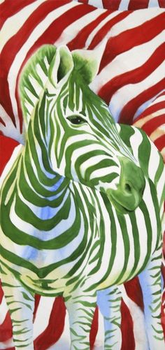 Zebra Painting - Safari Illustration - Eye Candy limited edition 5x12 print