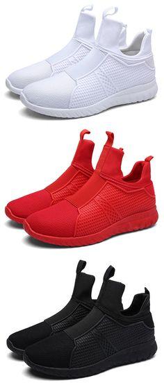 US$30.38 Men's High Top Breathable Walking Shoes Soft Sport Athietic Shoes#shoes #sports #colorful