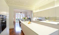 corian walnut white kitchen - Google Search