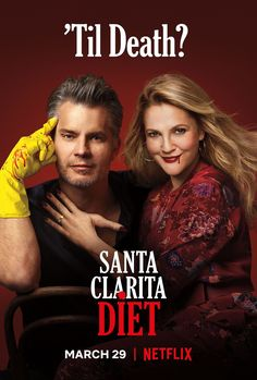 Drew Barrymore and Timothy Olyphant in Santa Clarita Diet Natalie Morales, Timothy Olyphant, Tv Series 2017, Best Series, Netflix Tv Shows, Netflix Series, Watch Netflix, Drew Barrymore, Stranger Things
