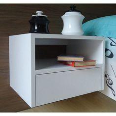 Criado mudo Nicho com gaveteiro Suspenso - Branco 238,00 Altura: 32 cm Largura: 45 cm Profundidade: 35 cm