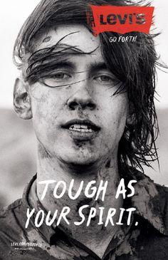 "Levi's Jeans: ""Tough"" Print Ad  by Wieden + Kennedy Portland"