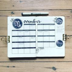 """304 Likes, 12 Comments - Nina (@bujobeyond) on Instagram: """"My November monthly log It's the second time that I do the calendar view and I'm really liking…"""""""