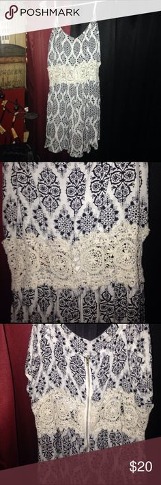 New with tags Beautiful Maze romper Brand new with tags Blk & cream colored Gorgeous romper with zip up back, have it in a couple different sizes so if this isn't your size make sure you ask :) this particular romper is an XL Shorts