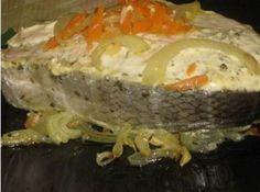 Нежная семга на луково-морковной подушке