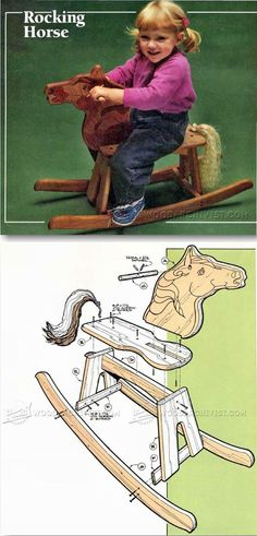 Wooden Rocking Horse Plans - Children's Woodworking Plans and Projects | WoodArchivist.com