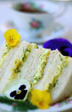 Dilly Egg Salad Tea Sandwiches