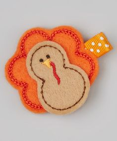 Take a look at this Turkey Felt Clip by Bubbly Bows on #zulily today!