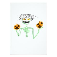 Halloween Zombie Pumpkin Party Invitations - invitations custom unique diy personalize occasions