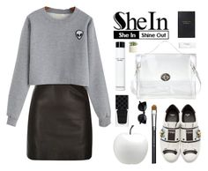 """""""Alien"""" by steviepumpkin ❤ liked on Polyvore featuring River Island, Fendi, Smythson, NARS Cosmetics, Bobbi Brown Cosmetics, Allstate Floral, Gucci, MAC Cosmetics and CB2"""