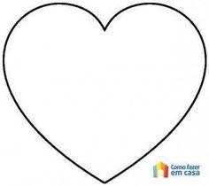 Molde de coração para artesanato - #artesanato #coração #de #molde #para