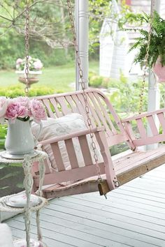 In a Perfect World...pink porch swing