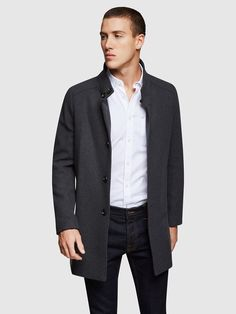DUNBAR COAT O   GREY DARK - Oxford Shop Mens Trousers Casual, Trouser Suits, Oxford Online, Polo Tees, Slim Man, Workwear, Workout Shirts, Mens Suits, Suit Jacket