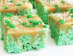 Carmel Rice Krispy Treats - these look AMAZING!
