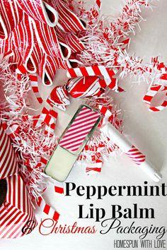 Peppermint Lip Balm & Christmas Packaging… Love it!