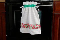Stay-put Kitchen Towel Tutorial