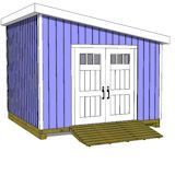 12x12 lean to shed plans door on angled