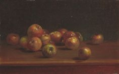 Charles Ethan Porter American, 1847 - 1923 Still Life with Apples 1886 Still Life With Apples, Vintage Art Prints, Still Life Art, Large Art, Art Forms, Pure Products, Artwork, Painting, American