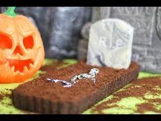 Chocolate OREO Dessert Recipe w/ Halloween Grave design & Fudge Tombstone   My Cupcake Addiction - YouTube