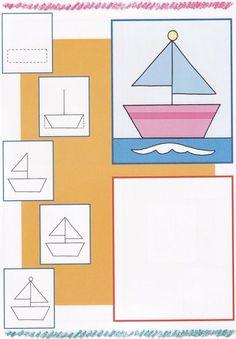 Seguimos aprendiendo a Dibujar  motricidad fina, preescritura, dibujando paso a paso. Plantilla imprimible. Lámina para imprimir.