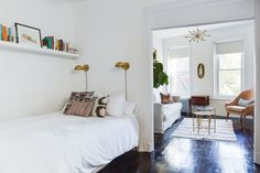 Name: Monica Dyer Location: West Village, New York Size: 600 square feet Years lived in: 3 years, rented Monica and her husband have lived in this apartment in New York for about three years and have transformed it into a perfect compact and chic city home. It's light-filled and lovely, designed with a fresh outlook and plenty of savvy. They've gone with a warm neutral color palette, a personal, updated take on traditional decor and have utilized really simple yet smart design solutio...