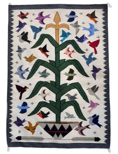 Tree Of Life Weaving By Angela Yazzie Navajo Weavings