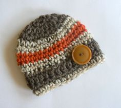 Beautiful baby boy hat in Fall colors.