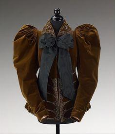 Jacket, Afternoon House of Worth 1895    Met