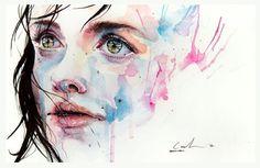 lovely watercolour technique / Agnes-Cecile (Silvia Pelissero)