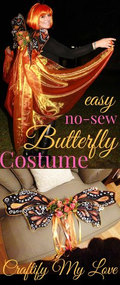 Like this Halloween costume idea for a butterfly or fairy? Make easily your own with this free tutorial!