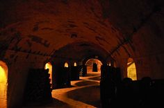 Thes cellars at Laurent-Perrier...