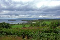 Islay from Achamore Gardens viewpoint on Gigha