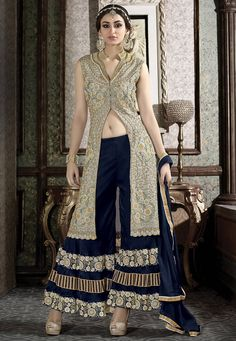Embroidered #Suit in Grey