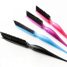 new New Arrival Fashion Hairdresser Combing Brushes Slim Line Styling Comb Portable Beauty Tools
