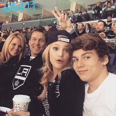 Photos: Olivia Holt With Her Family At The Los Angeles Kings Game January 12, 2015 - Dis411