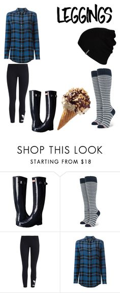 """""""Untitled #102"""" by juliannarquinn ❤ liked on Polyvore featuring Hunter, Stance, adidas Originals, Equipment, Hurley, Leggings and WardrobeStaples"""