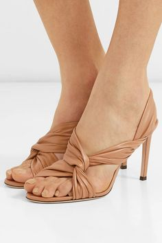 20c64cc7eaf Jimmy Choo - Leila 85 knotted leather slingback sandals
