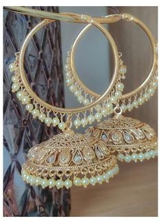 Indian Bridal Jewelry Sets, Indian Jewelry Earrings, Silver Jewellery Indian, Jewelry Design Earrings, Gold Earrings Designs, Ear Jewelry, Pakistani Jewelry, Antique Jewellery Designs, Fancy Jewellery