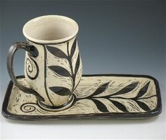A new world take on the classic tea cup and saucer.... Renee