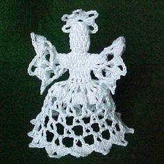 $1.99 - Open Lace Angel - A Crochet pattern from jpfun.com