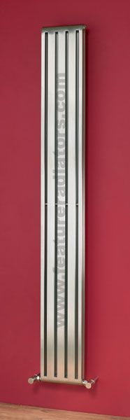 Cutler stainless steel radiator in a brushed finish which matches the Minimus manual valves in satin. Stainless Steel Radiators, Stainless Steel Tubing, Brushed Stainless Steel, Radiator Heater, Radiator Valves, Contemporary Radiators, Contemporary Design, Vertical Radiators, Central Heating Radiators