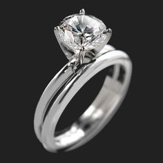 MiaDonna — Traditional Solitaire Engagement Ring