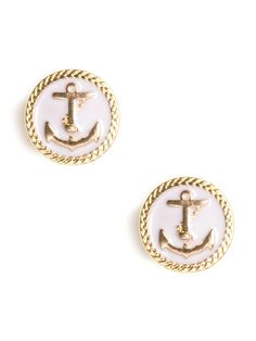 A cheeky nautical embellishment gives colorful enamel studs an extra dose of prep.