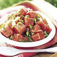 Watermelon, Green Onion, and Mint Salad