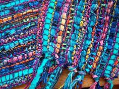 sheer handwoven scarf, in beautiful blues. $54.00, via Etsy.