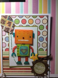 Robot sticker from dollar tree