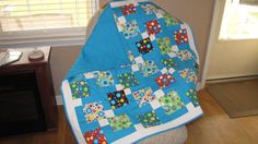 Disappearing 9-Patch Baby Boy Quilt Blanket by BabyQuiltsByVanessa
