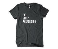 Paraglider Shirt-Eat Sleep Paragliding T Shirt by SuperCoolTShirts